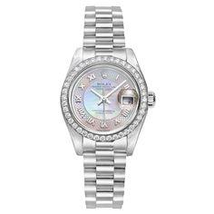 ROLEX Lady's Platinum and Diamonds Datejust Automatic Watch