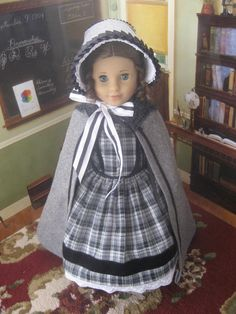 1850's Gown with Pantaloons, Cloak 4 American Girl Marie~Grace or Cecile | eBay