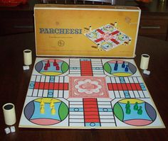 Vintage Board Game Parcheesi 1960's Parcheesi by WellIWasSavinIt, $14.00