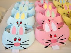 Resultado de imagen para easter hats for kids Headband Crafts, Hat Crafts, Bunny Crafts, Easter Activities, Preschool Crafts, Easter Art, Easter Bunny, Easter Crafts For Kids, Diy For Kids