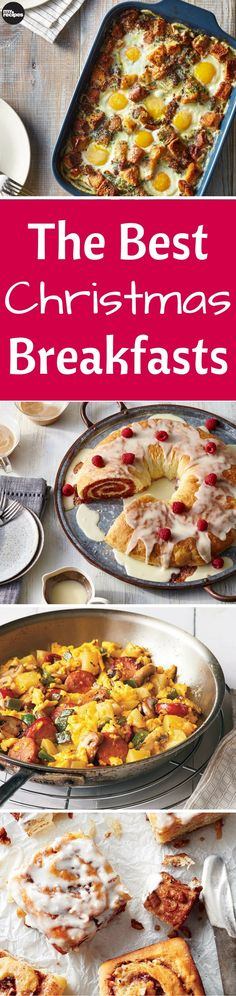 While enjoying time with family and friends on Christmas morning, don't forget to eat! We've assembled a great collection of some of our favorite Christmas breakfast recipes, dishes, and drinks to accompany the morning festivities. | MyRecipes
