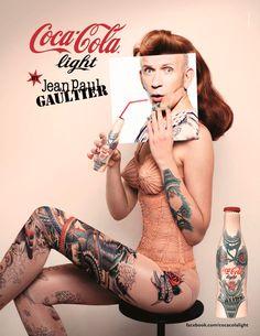jean paul gaultier and coke #gaultier #coke #art #cocacolalignt #cobranding