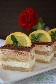 Romanian Desserts, Romanian Food, Romanian Recipes, Sweets Recipes, Raw Food Recipes, Cake Recipes, Tasty Chocolate Cake, Good Food, Yummy Food