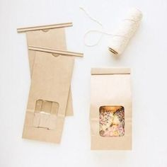 Paper Tin Tie Coffee & Treat Bags feature a flat bottom, a clear window, and a super easy tin-tie closure. Simply fill them with your delicious homemade treats. Baking Packaging, Birthday Packages, Baking Party, A Little Party, Simply Filling, Puppy Party, Craft Bags, Pretty Packaging, Wedding Welcome