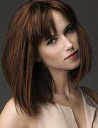 Medium Hairstyles with Bangs: Straight Bob Haircut 2014