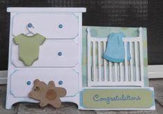 Scrap Caja de Kat: Baby Side-Paso Card