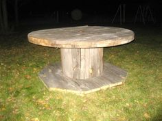 wooden spool to. . .  dining table