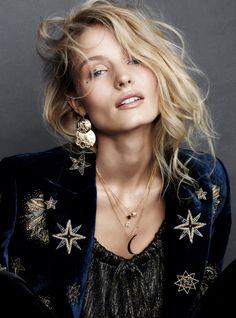 boho vibeElle Sweden 2016 model Tove Agren see Image Fashion, Look Fashion, Fashion Beauty, Womens Fashion, Feminine Fashion, Star Fashion, Runway Fashion, Ethno Style, Bohemian Style