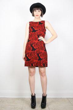 Vintage 90s Dress Grunge Dress 1990s Dress by ShopTwitchVintage #vintage #etsy #1990s #90s #grunge #dress #mini #clubkid #roses
