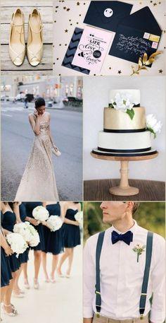 34 Elegant Navy And Gold Wedding Ideas | Weddingomania NIKKI What about these colors?