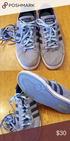best loved 579a8 46e05 Adidas Neo Label Grey and Navy blue adidas Neo Label sneaker. Two sets of  laces adidas Shoes Athletic Shoes