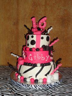 my wonderful sweet 16 cake! ;)