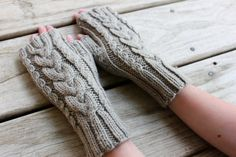 Cable Knit Fingerless Gloves for Kids and Tweens, Cable knit gloves, Fingerless mittens, Wool Gloves, Ready to Ship by TinkerCreekHandknits
