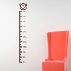 Wall Sticker Design Monkey design stick on height chart £9.99 - createworks.co.uk