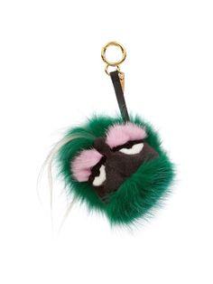 Fendi Minty fox and goat-fur bag charm