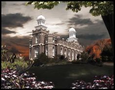 Logan Temple - A Light in the Storm - by Brent Borup
