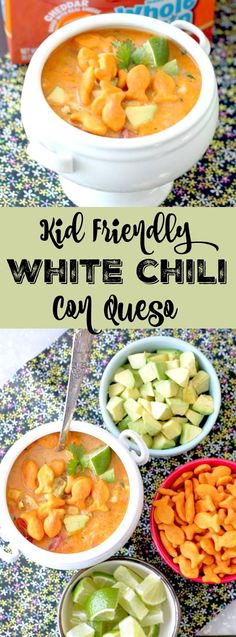 Personalized Graduation Gifts - Ideas To Pick Low Cost Graduation Offers Kid Friendly White Chili Con Queso Quick Soup Recipes, Quick Meals, Healthy Recipes, Freezer Meals, Healthy Food, Tailgating Recipes, Grilling Recipes, Slow Cooker Recipes, White Chili