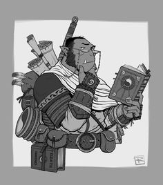 [OC] Gurt, Ondonte Orc priest of Eldath! A Commission of my newest character by Trent Rommel. : DnD