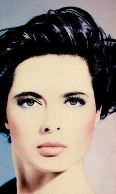 ISABELLA ROSSELLINI '80 lancome ad.  Someone once told me I looked like her from this era. Bwha ha. But nice to hear.