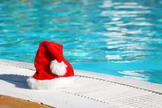 Santa splash! Christmas and Boxing Day morning outdoor swims in London...