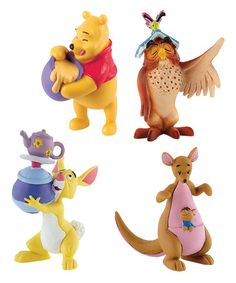 Rabbit + Kanga with Roo + Owl with Book + Winnie the Pooh by Bullyland: Disney Movie Miniatures on #zulilyUK today!