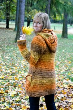Must make.  cute hooded jacket crochet