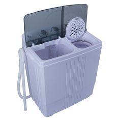 DELLA© Portable Washing Machine Compact Twin Tub 11lb RV Camping Apartment  Home Wash Spin U0026