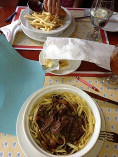 Beef short Ribs and egg noodles from Les Chefs de France