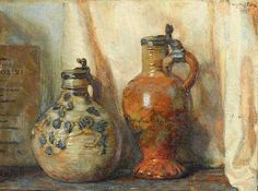 Willem Gerard Hofker (1902 – 1981) - Still life, oil on canvas, 32 x 42,5 cm.