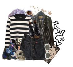 """""""Sin título #274"""" by starscounter394 on Polyvore featuring American Eagle Outfitters, Schott NYC y Retrò"""