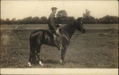 Man on Horse Real Photo c1910 Postcard picclick.com