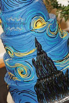 Starry Night Wedding Cake!