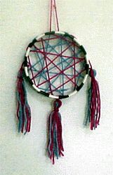 Girl Scout friendship dolls | yarn dream catcher1.gif (32971 bytes)