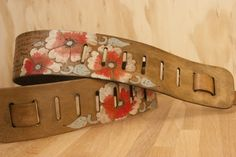 The Smokey Belle Strap - Personalized leather strap for guitar, banjo, bass or dobro - Moxie and Oliver
