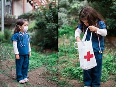 This DIY Doctor Kit encourages kids to practice imaginative play, learn compassion, and have fun. Plus it makes a great Halloween costume! Kids Nurse Costume, Doctor Costume Kids, Vet Costume, Doctor Halloween Costume, Great Halloween Costumes, Halloween Diy, Halloween 2020, Diy Girls Costumes, Costume Ideas