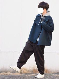 オーバーサイズのPコートに ライダースを中に合わせました💁🏻♂️ ■着用サイズ■ coat →