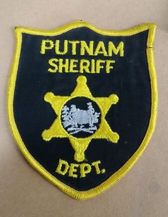 PUTNAM COUNTY, WEST VIRGINIA SHERIFF POLICE BLACK/YELLOW SHOULDER PATCH WV | Collectibles, Historical Memorabilia, Police | eBay!