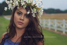 Savannah | Portrait | Creative Photography | Flower Crown | Soco Photography & Design by Allie Shea | South & North Carolina Photography