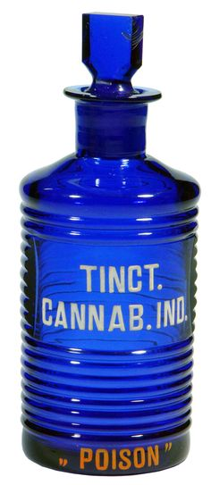 Tincture of Cannabis Indica Pharmacy bottle. c1890s