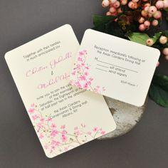 DIY Cherry Blossom Invitations Kit - Invitations - Invitations ...
