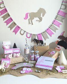 pferde mottoparty deko und ideen zur pferdeparty kleine m dchen mottos und pferde. Black Bedroom Furniture Sets. Home Design Ideas