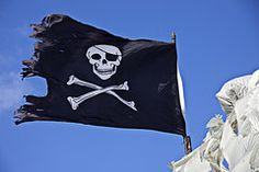 Pirate Art - Black Pirate Flag   by Garry Gay