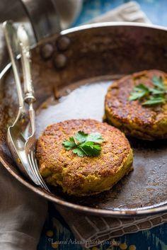 Burger Vegetale di lenticchie e curry da una ricetta di Marco Bianchi– Vegetal burger with lentils and curry