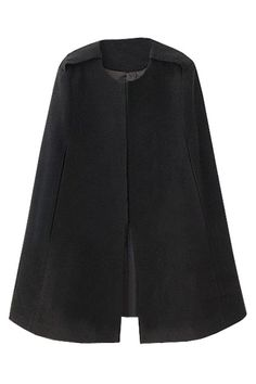 fitted black cape