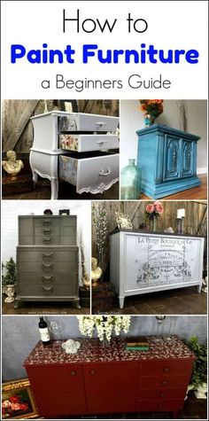 How to Paint Furniture, a beginners guide, and tutorial. step by step tutorial from start to finish. Find a piece of furniture to paint. Supplies, prep, techniques - glaze, decoupage, stencil, layering chalk style paint, using paint sprayer and more. Then staging and photography of your finished painted furniture project. via @justthewoods