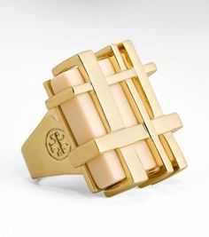 The gingham RING - So cool! (c) Tory Burch