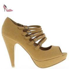360dbb76bae54 Escarpins plateforme camels à talon de 11,5cm - 40 - Chaussures chaussmoi (