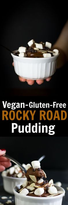 Step aside Rocky Road Ice Cream and make some room for this amazing Vegan Rocky Road Pudding. Much less fattening than the ice cream version, as this pudding is made with sweet potatoes, dairy-free milk, cocoa powder, chocolate, almonds and marshmallows! via @thevegan8