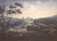 henry sinclair castle | Rosslyn Castle- Hugh Williams (1773-1829)