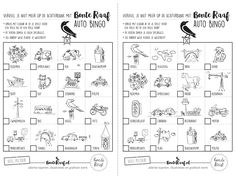 Bonte Raaf Auto Bingo Download Printables, Auto Bingo, Free Downloads, Travelling, Camping, Autos, Craft, Campsite, Print Templates